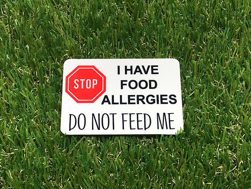 Do not feed me badge