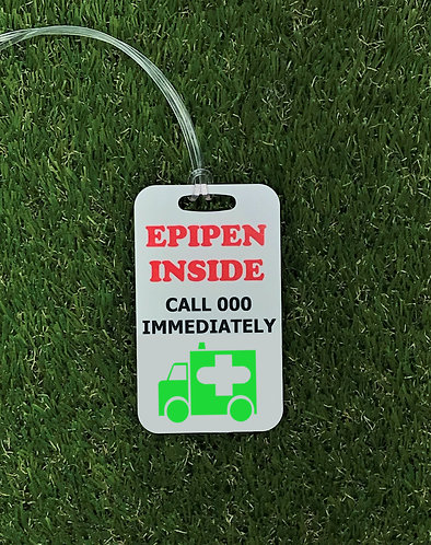 Call 000 - EpiPen Inside bag tag