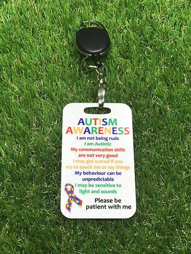 Autism Retractable Tag
