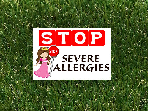 Stop- Princess Severe Allergies Badge