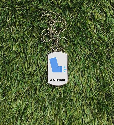 Asthma Dog Tag