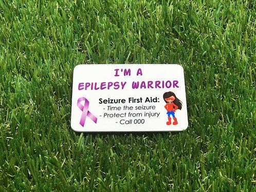 Epilepsy Warrior Badge