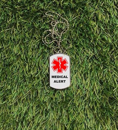 Medical Alert Dog Tag