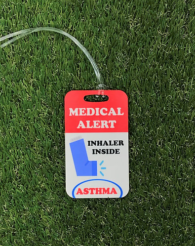 Inhaler Inside bag tag