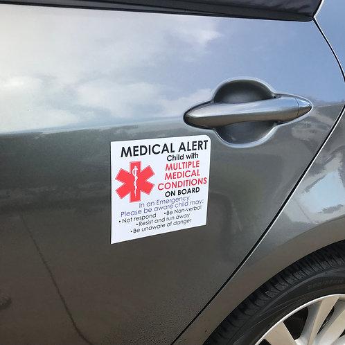 Medical Alert Car Magnet - Large