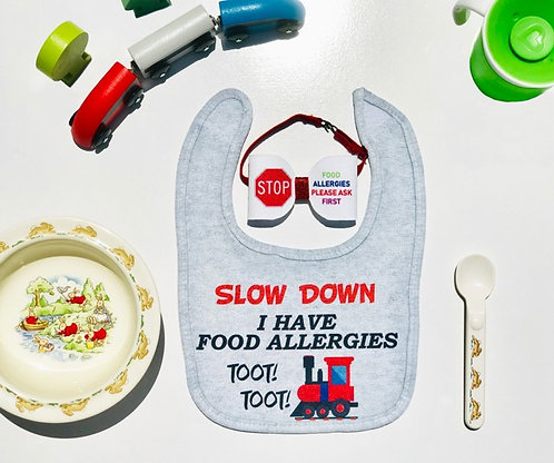 Slow Down - Food Allergy Bib