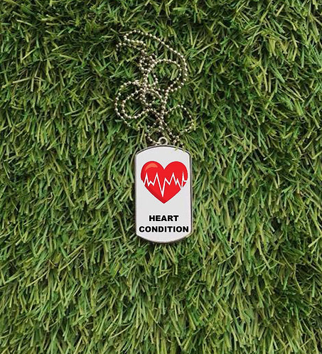 Heart Condition Dog Tag