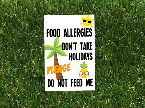 Food Allergy Holiday Badge