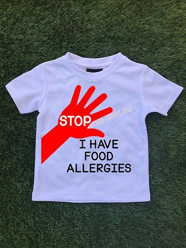 Stop - I have food allergies