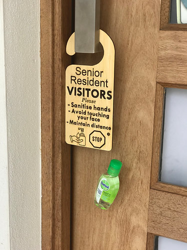 Senior Resident - Door Sign (incl express shipping)