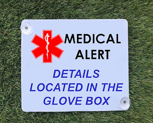 Medical Alert Car Sign