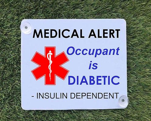 Diabetic Car Sign