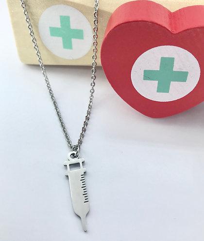 Syringe Pendant Necklace