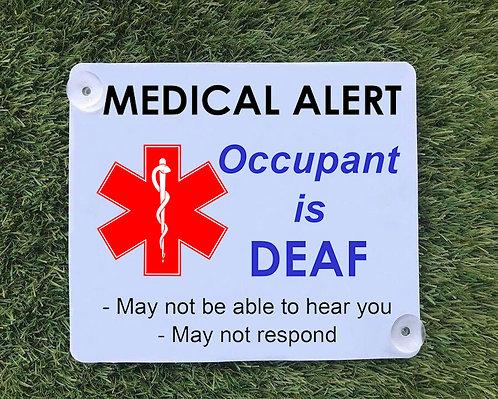 Deaf Car Sign