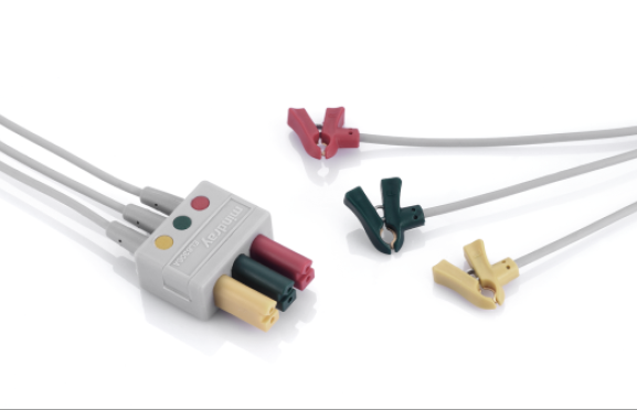 Mindray 3-Lead ECG wires, Clip, Neo, TPU, IEC, 0.6 m