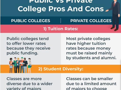 Public vs Private College Pros And Cons