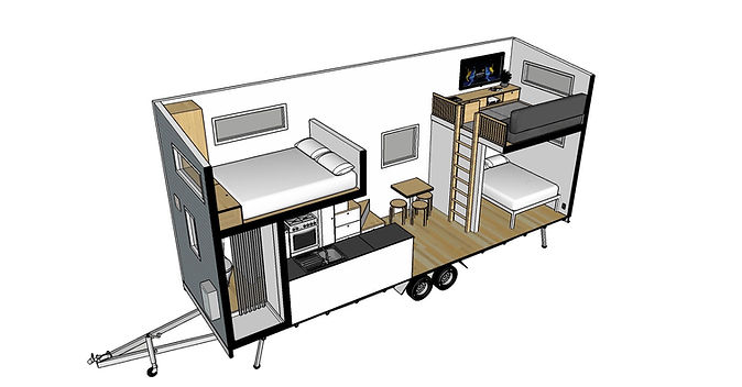 Archer Tiny House 3D Layout