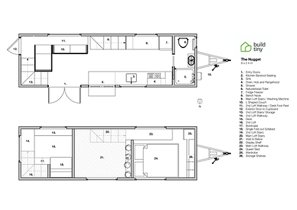Nugget Tiny House Layout Plan