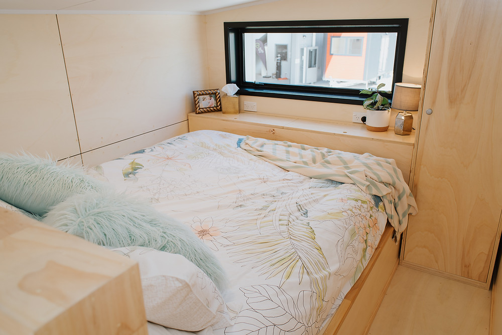 The main sleeping loft with removable storage