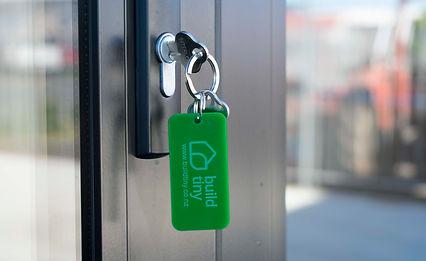 Keys to the Webb and Haddow tiny house
