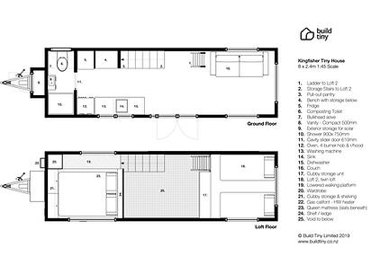 Kingfisher Tiny House Layout Plans