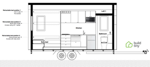 Sectional view of the Camper Tiny House