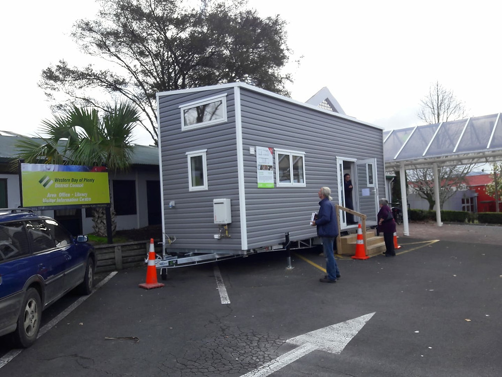 Build Tiny's Archer Tiny house in Katikati main street