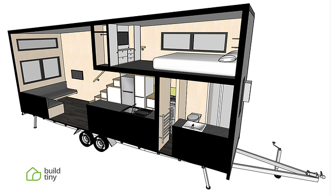 Green Hill Farm Tiny House Perspective S