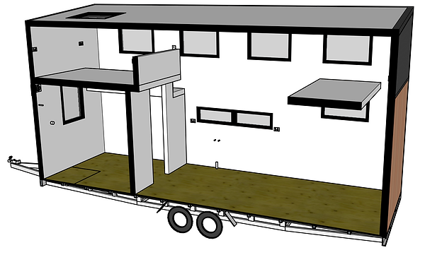 Webb and Haddow tiny house 3D perspectiv