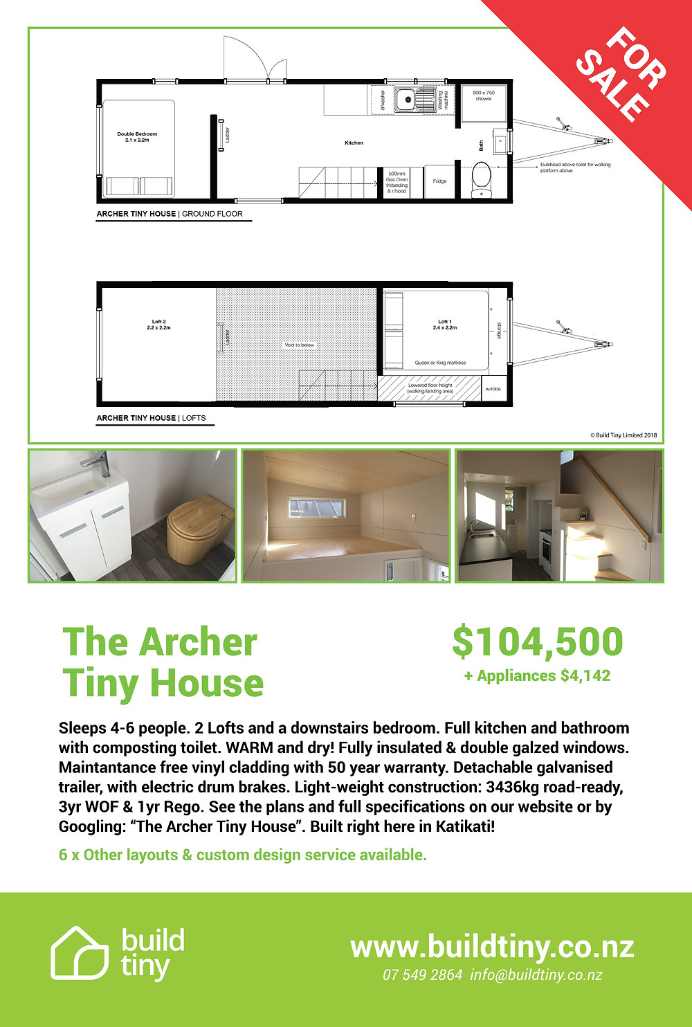 Archer Tiny house for sale
