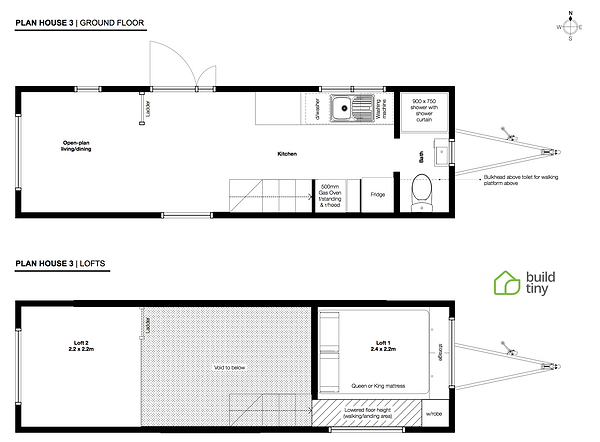 Layout plan for the Moore Baxter Tiny Ho