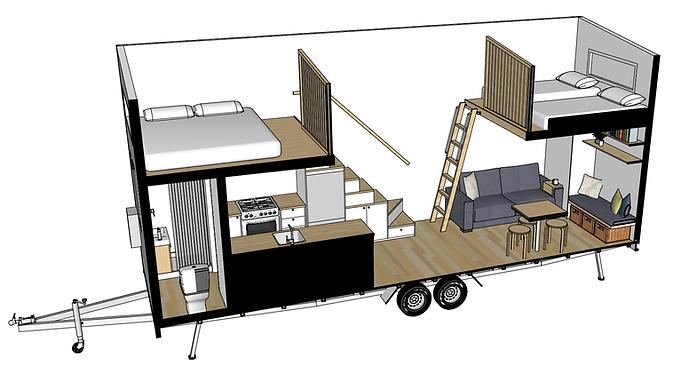 Ibbotson Tiny House 3d perspective Build