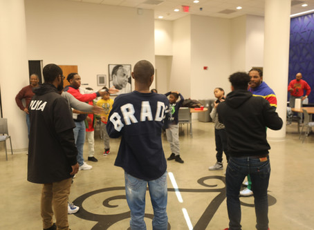 College students teach lesson on the history of Greek letter organizations and stepping