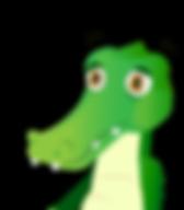 Personaje del cuento El cocodrilo que comía muchos dulces