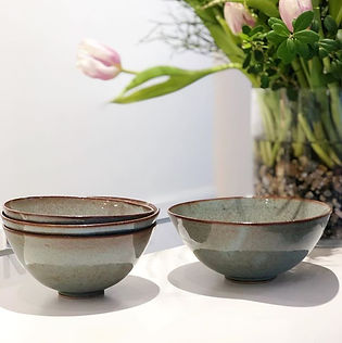 Bowls in green. 🌱#drejning #stoneware #