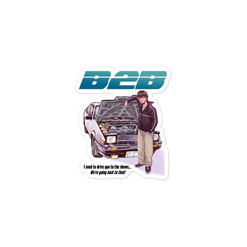 B2B sticker