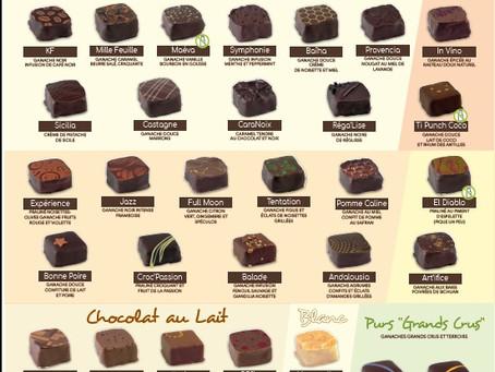 Carte des Chocolats 2020