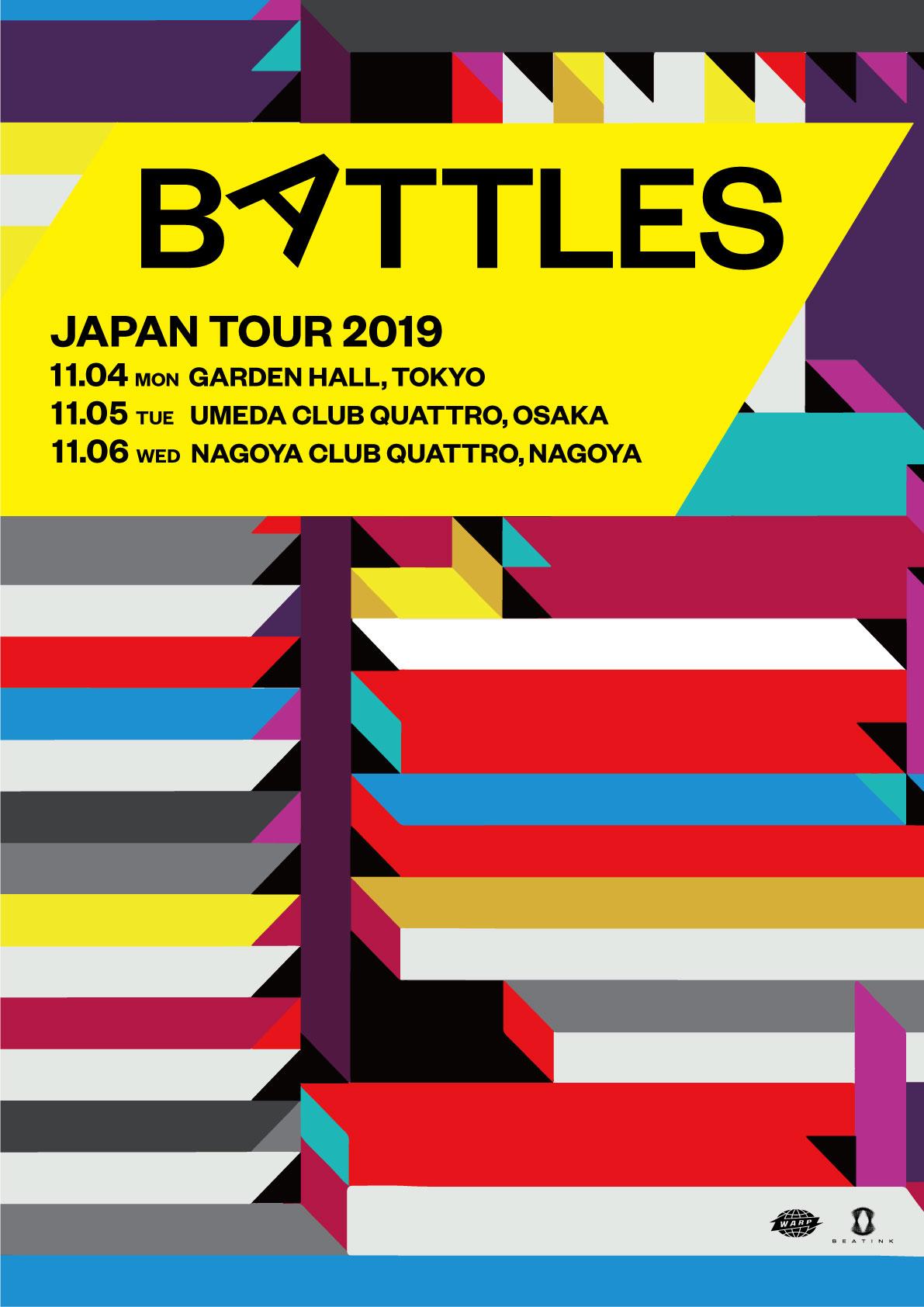 BATLLES 来日決定!!
