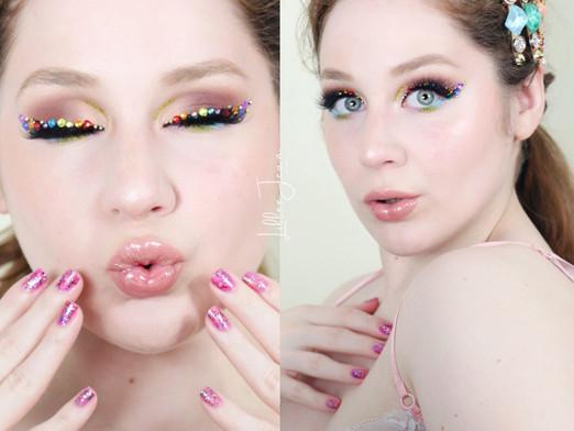 Rainbow Eyeliner Makeup   Essence Ciao Venezia 2021   Lillee Jean