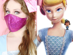 PIXAR Toy Story 4 BO PEEP COVID MASK COSPLAY Halloween Makeup Tutorial 2020 | Lillee Jean