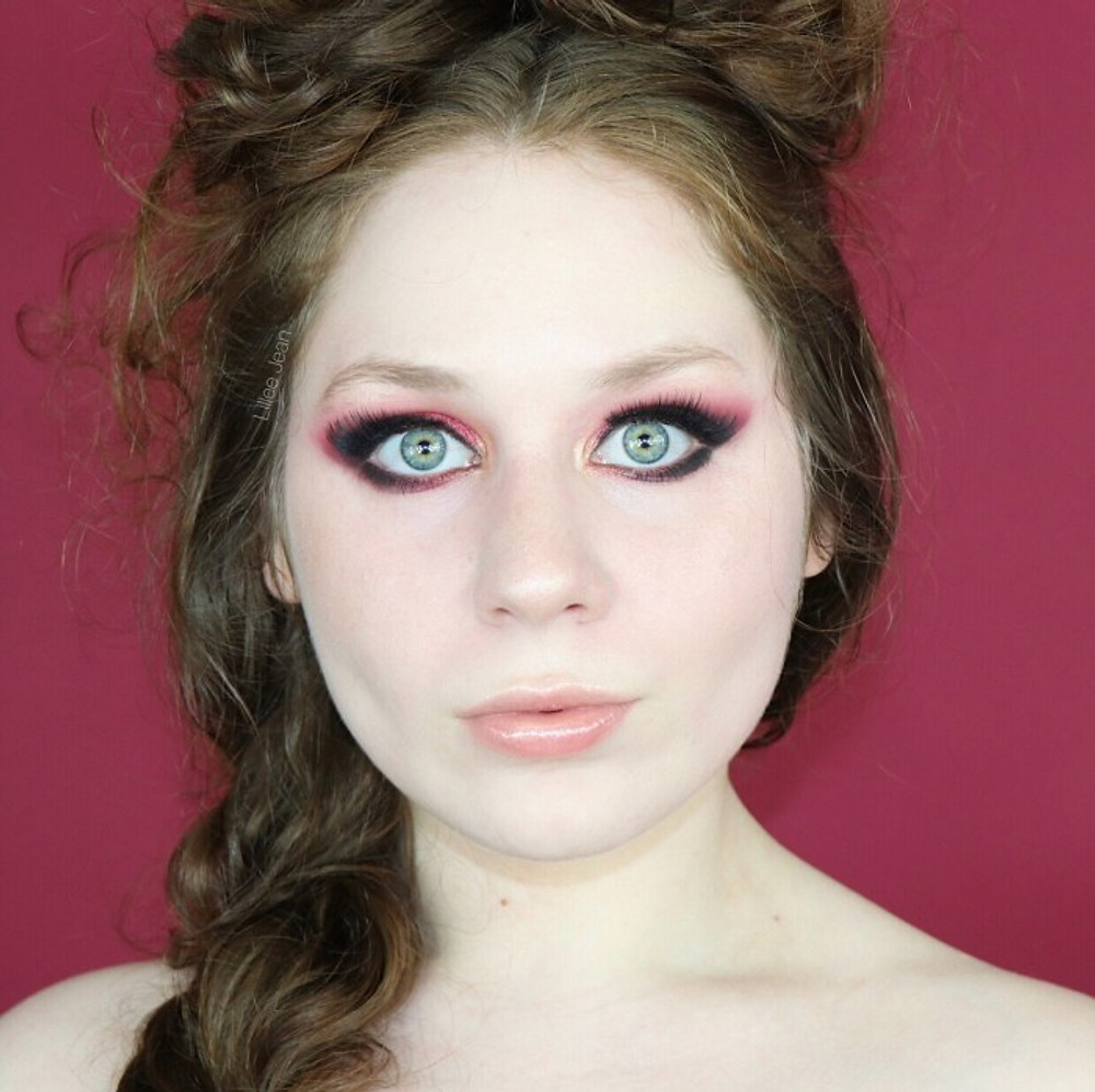 Morphe 35O3 Red Smokey Eye Dramatic Makeup Tutorial | Lillee Jean