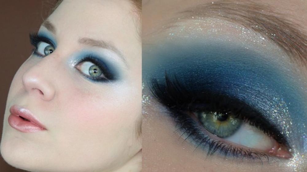 Frozen 2 Blue Smokey Eye Makeup Tutorial | Lillee Jean