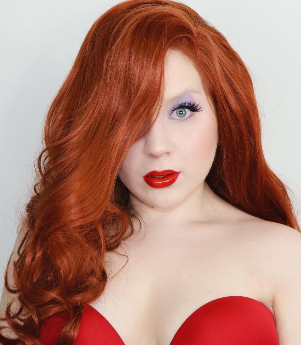 Jessica Rabbit Makeup Tutorial 2020   Lillee Jean