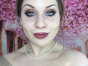 New Years Eve: Romantic Shimmering Rose Golden Smokey Eye Drugstore Makeup Tutorial