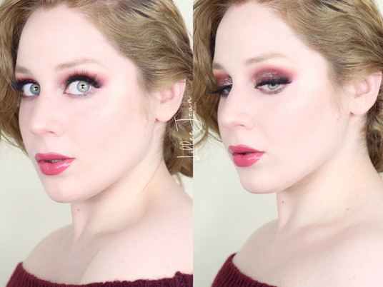 Too Faced Enchanted Wonderland Glittery Burgundy Smokey HOLIDAY Makeup Tutorial 2020 | Lillee Jean