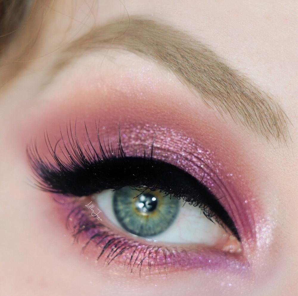 Lillee Jean Glamorous Purple Makeup
