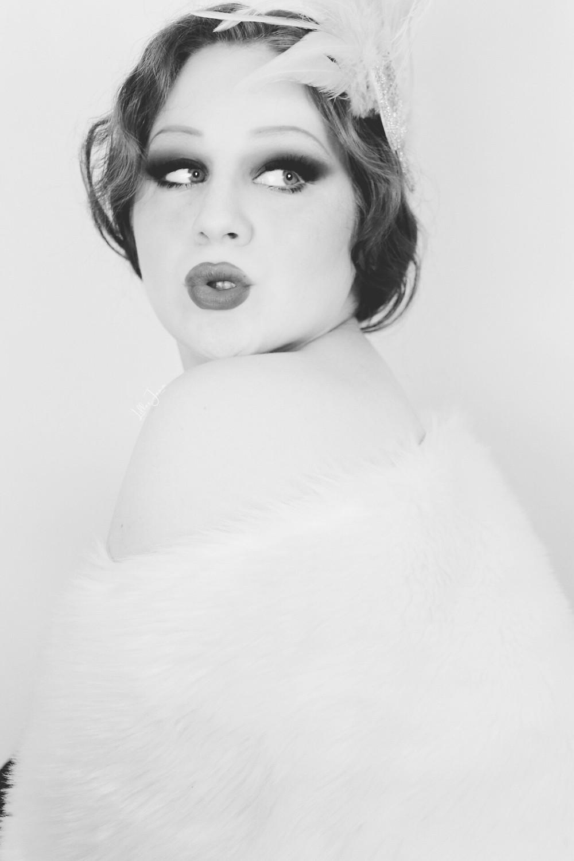 Lillee Jean Black & White 1920's
