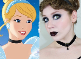 Goth Cinderella Dramatic Black Smokey Eye Disney Makeup Tutorial 2020   Lillee Jean