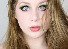 KARITY Come As You Are GREEN and PINK Fall Cut Crease Makeup TUTORIAL 2020 | Lillee Jean