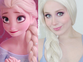 Elsa Frozen Pastel Purple Summer Makeup Tutorial Disney Cosplay 2020 | Lillee Jean